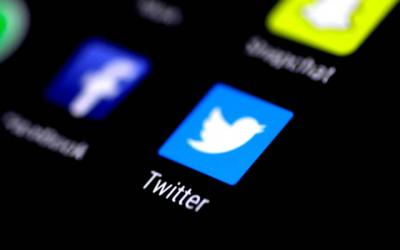 <p>The Twitter application is seen on a phone screen in 2017. For some bishops and their dioceses, using Twitter has become an effective way of reaching the faithful.  </p>