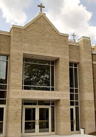 Our Lady of Mercy High School, an all-girls Catholic school in Brighton, is among several area schools reaching out to Nazareth students.