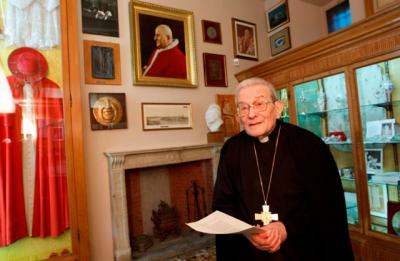 Italian Cardinal Loris Capovilla, who served St. John XXIII before and after he became pope, died May 26 at the age of 100 in Bergamo, near Milan. He is pictured in a 2012 photo.