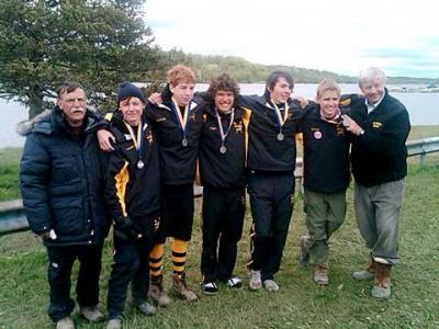 The crew team from McQuaid Jesuit High School earned two first-place finishes and a second place at the championship regatta of the New York State Scholastic Rowing Association, held May 8-9 in Saratoga Springs.