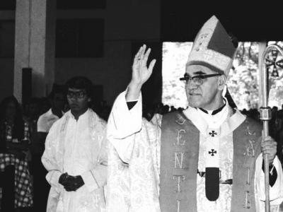 <p>Blessed Oscar Romero is seen in an undated photo. The celebrations of the 100th anniversary Blessed Romero's birth should be a time to reflect on what it really means to call someone a martyr, said Cardinal Gregorio Rosa Chavez.  </p>