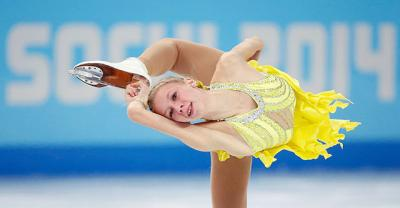 Polina Edmunds of the U.S. competes in the women's figure skating short program Feb. 19 during the 2014 Winter Olympics in Sochi, Russia. Edmunds, a sophomore at Archbishop Mitty Catholic High School in San Jose, Calif., made her senior national debut at the games, placing ninth overall in the free skating event.