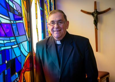 Father Stephen Kraus is retiring as pastor of St. Theodore Parish in Gates.