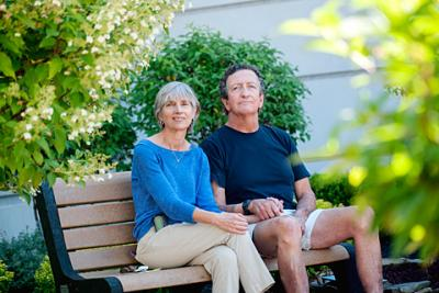 Pam Heiple (left) donated a kidney and her husband Mike Atkinson (right) received a kidney as part of a new transplant program at the University of Rochester Medical Center.