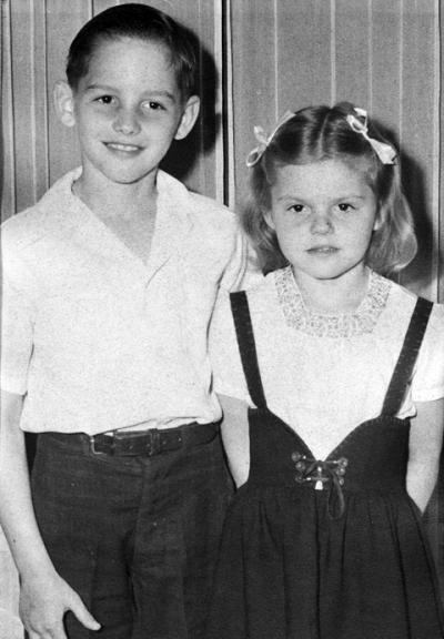 Matthew Clark with his sister Helen.