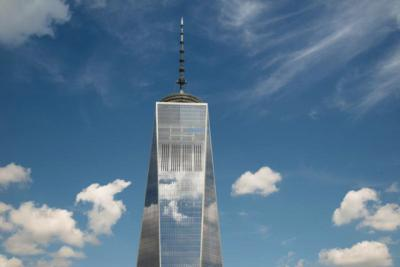 """his photo is used on the cover of """"One World Trade Center: Biography of the Building"""" by Judith Dupre. The volume is a detailed, illustrated exploration of the political, structural and aesthetic forces that clashed, combined and coalesced before the building opened in October 2014."""