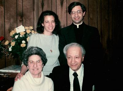 In this photo from 1971, the year he was ordained, then-Father Matano posed with his sister, Vanessa Danielson, and his parents, Salvatore and Mary.