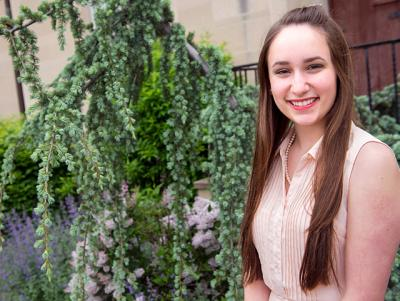 Clare DeMarco, 16, a cantor at St. Benedict Parish in Ontario County, recently received a diocesan Music Ministry Recognition Award.